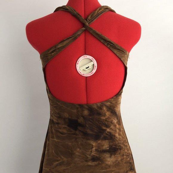 Balera Dance Costume Brown Tie-Dye Tunic Shorts